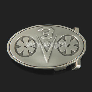stainless steel belt 3d buckle parts reversible belt buckle
