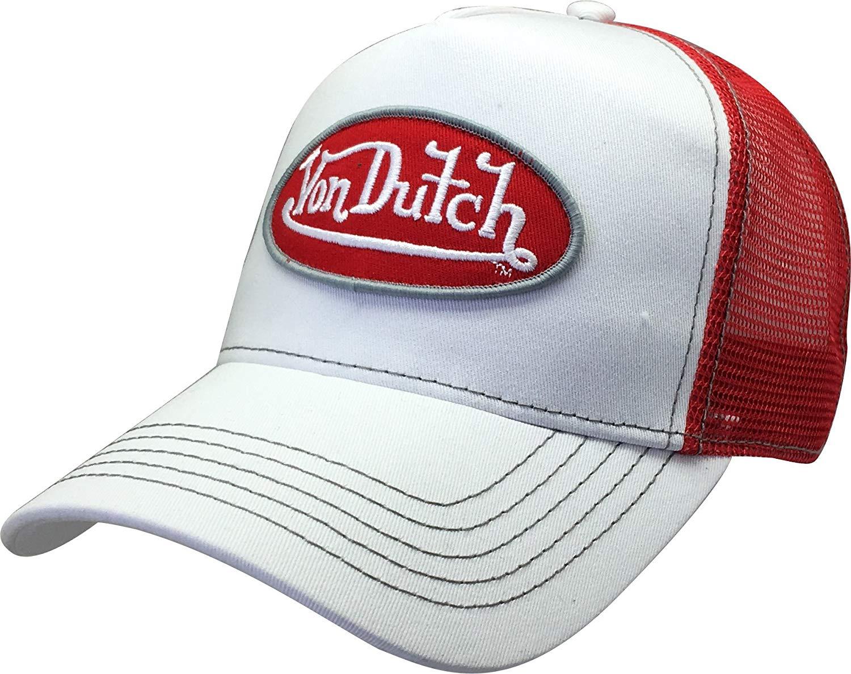 855d9950176 Von Dutch Trucker Hat with Logo Patch Baseball Cap