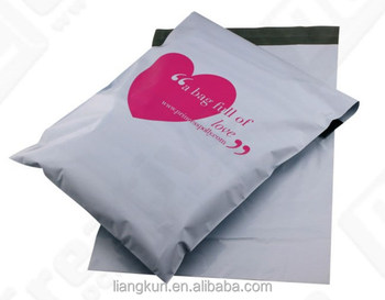 Patterned mailing bag poly mail bag plastic apparel shipping
