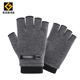 Proteccion man fleece lined winter fingerless sport gloves mittens gym