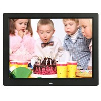 14 inch LED Display Multi-media Digital Photo Frame with Holder & Music & Movie Player