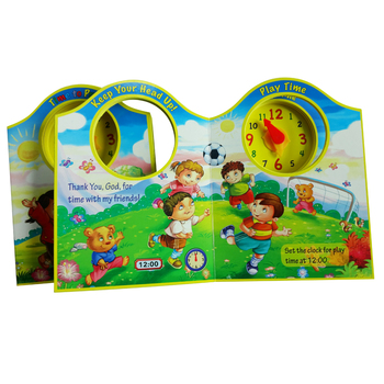 Creative and Novel Format Children Book Carrying A Clock Colourful Printing Book
