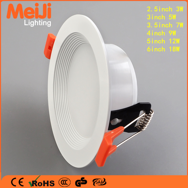 Super brightness 5/10/12/18w 5630 smd led downlight recessed led downlights new design anti-glare led downlight