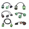 Green J1939 Deutsch to J1939 and OBDII OBD2 Splitter Cable for Truck Auto Diagnostic Tool