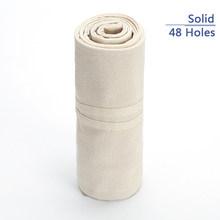 Холщовый футляр для карандашей ручной работы с национальной вышивкой, рулон с 36/48/72 отверстиями, косметическая коробка для хранения кистей ...(Китай)