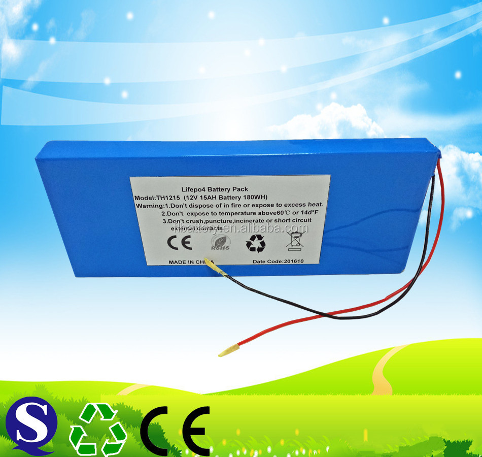 12V 15Ah LiFePO4 Battery Pack New Rechargeable