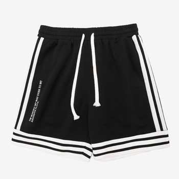 New design in stock no moq fashion male track short pants black men athletic casual jogger shorts