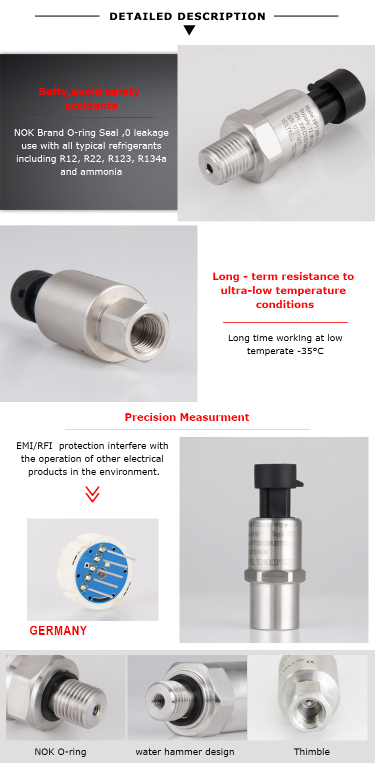 Air Compressor Pressure Transducer for Pneumatic System Controls