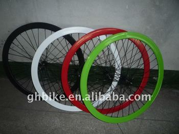 colorul 700C fixed gear 43mm wheelset deep v rim wheelset
