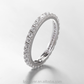 cz round bands i by band kenneth lane clear and jay eternity ring cut silver baguette