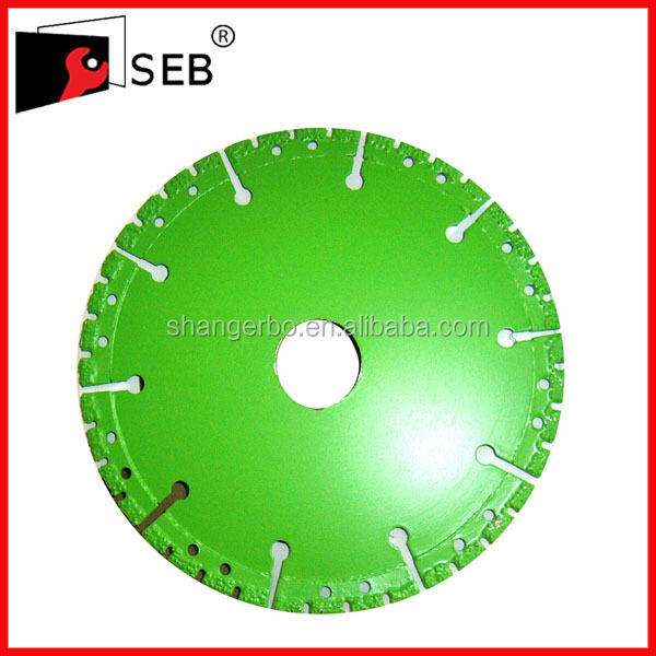 multi-purpose Vacuum brazed diamond saw blade for cutting concrete