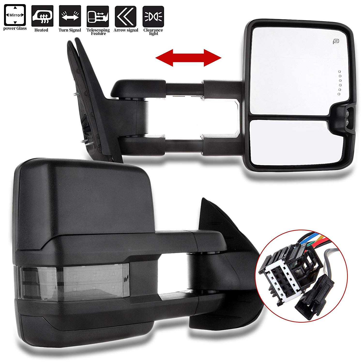 Power Side View Mirrors Left /& Right Pair Set for 02-04 Nissan Altima