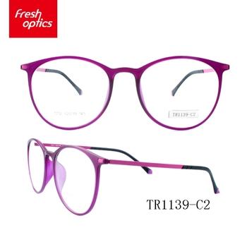 Tr1139 Round Fashion Optical Frames,Tr90 Thin Temple Glasses Frame ...