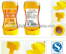 360ml Wholesale Manufacturers Easy Squeezable plastic silicone valve bottle caps bee Honey PET Plastic Bottle