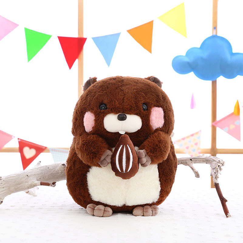 New Design Fashion Cute Plus Size Plush Stuffed Greedy Paw GroundhogToy