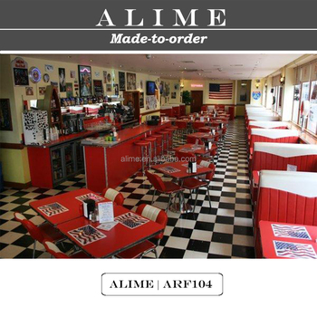 ALIME ARF104 Custom Red American 1950 Style Diner Furniture For Sale
