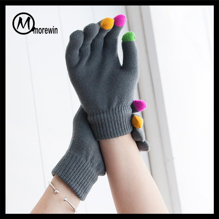 2017 Morewin high quality Magic Glove Winter Knit Soft Iphone Touch Screen Gloves Touch Screen Gloves