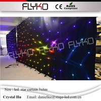 LED star curtain 3x6m 30 sets of programs SD controller with Remote control full color led star background wall