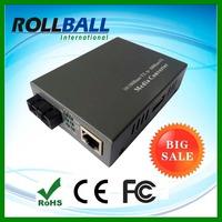 External power DC adapter 10 100M single mode dual fiber st 20km 10 100m fiber media converter