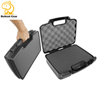 Simple Hard Injection Molded Plastic Tool Carrying Instrument Packing Case with Customized foam for electronic equipment