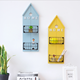 Creative house-shaped metal wall mounted organizer
