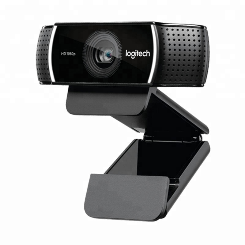 Logitech webcam HD C922 1080P full 720P built-in microphone video call recording, background switch (including t фото