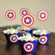 Birthday Christmas party decoration custom print cupcake wrappers and toppers
