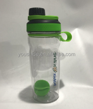 2017 latest new design plastic space bottle cup/protein shaker bottles/water bottle BPA free