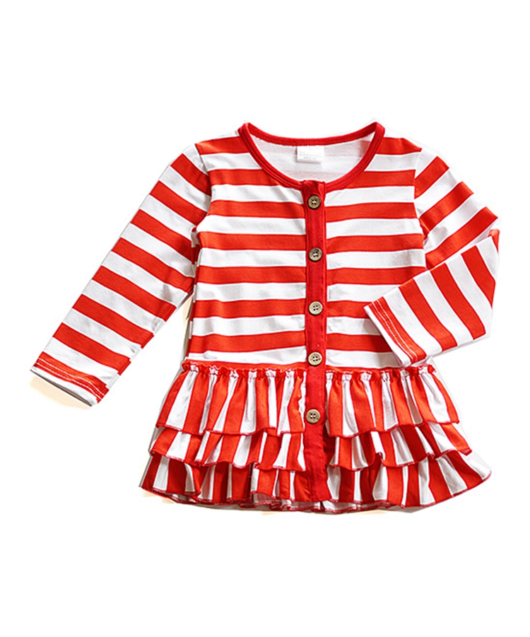 Fashion fall winter 100% cotton long sleeve baby tops only