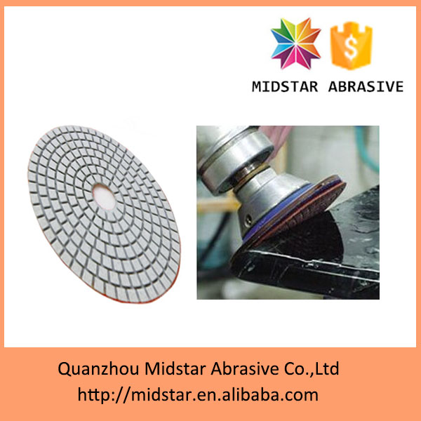 "MIDSTAR 3"" flexible wet granite polishing pads wholesale"