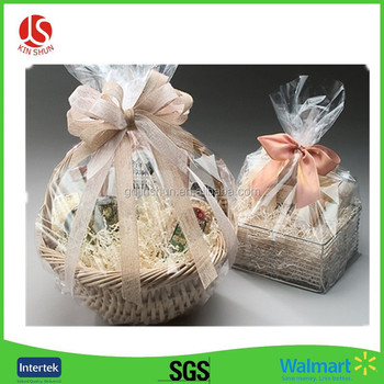 Christmas Snowflakes Hamper Wrap Cellophane Basket Gift Large Cello Bag