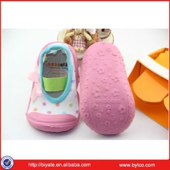Newest baby rubber soles shoes