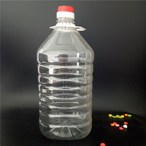 empty cooking oil bottle PET plastic bottles for oil /mineral water / wine / beer