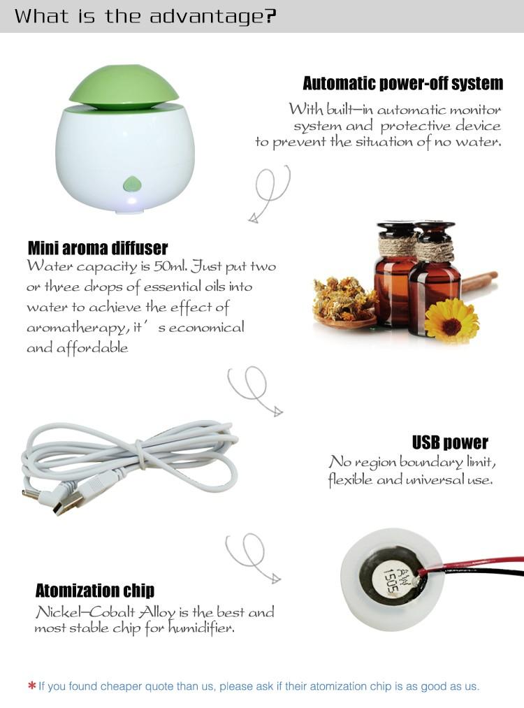Aromatherapy Spa Room Aroma Mist Ultrasonic Usb Steam Humidifier ...