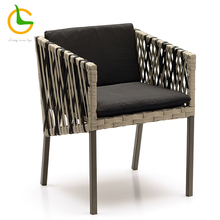 outdoor garden furniture Double colors mixed woven rope chair