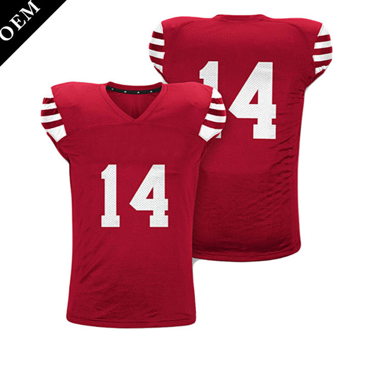 Tackle Twill Embroidery Reversible american football jersey