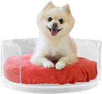 big size round open door family pet acrylic bed acrylic dog and cat cage wholesales