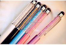 New Promotion Gift Ballpoint Pen with Top bling Diamond Crystal Metal brand Pen Lovers Logo Signature