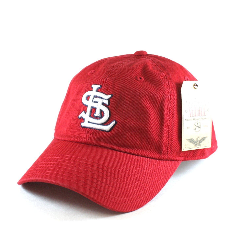 54c89c030e8 Get Quotations · American Needle MLB St. Louis Cardinals Red Team BallPark  Adjustable Cap