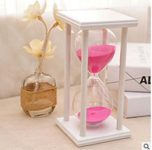 Good Quality Colors Wooden Sand Clock Hourglass Timer Decor Gift