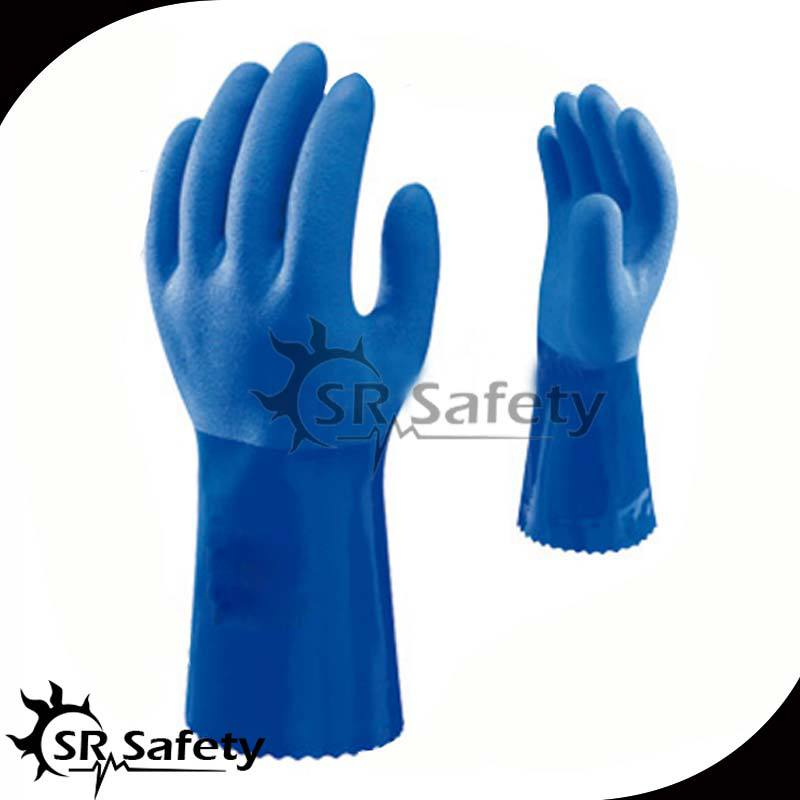 SRSAFETY Blau, orange, bunte PVC Gummi Handschuhe China handschuhe