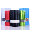 Colorful Stand Up Zipper Pouches, Clear Window Bags