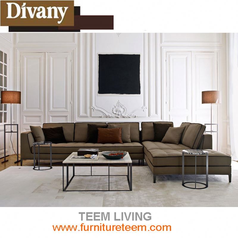 Divany furniture 2017 new design modern living room corner sofa