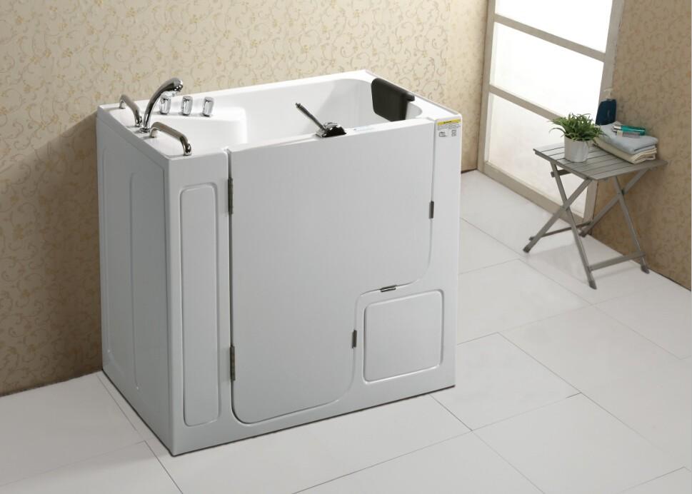 Q358 Indoor Acrylic Old People Bathtub/ Walk-in Tub/ Small Square ...