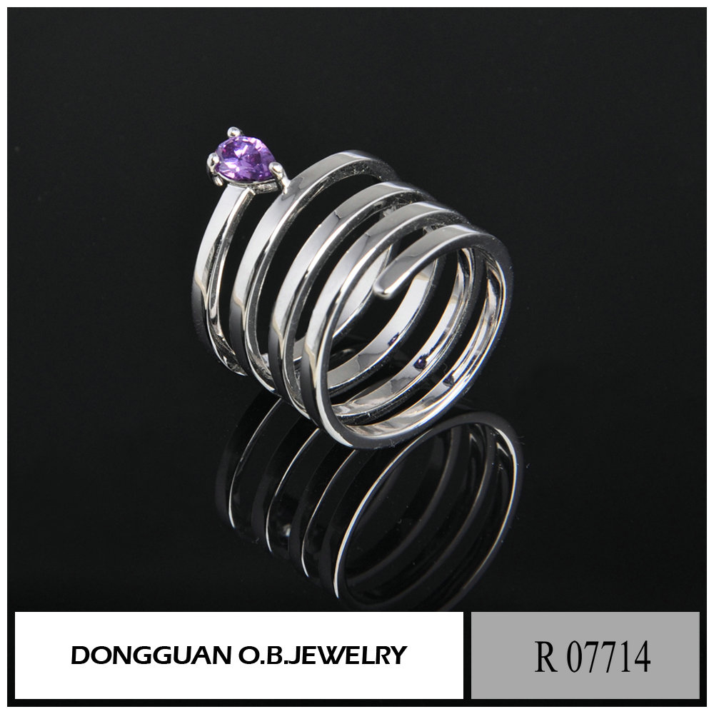 Cheap price blank ring jewelry amethyst stone ring designs for men