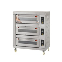 factory price high quality commerical gas oven for bread and pizza