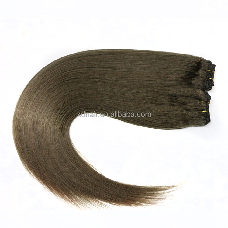 Double Drawn Hand Tied Human Virgin Indian Remy Hair Weft Extension