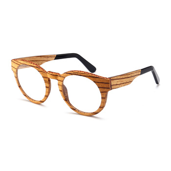 Stylish Wood Eyewear Frame Optical Glasses 2019 Round Frame - Buy ...