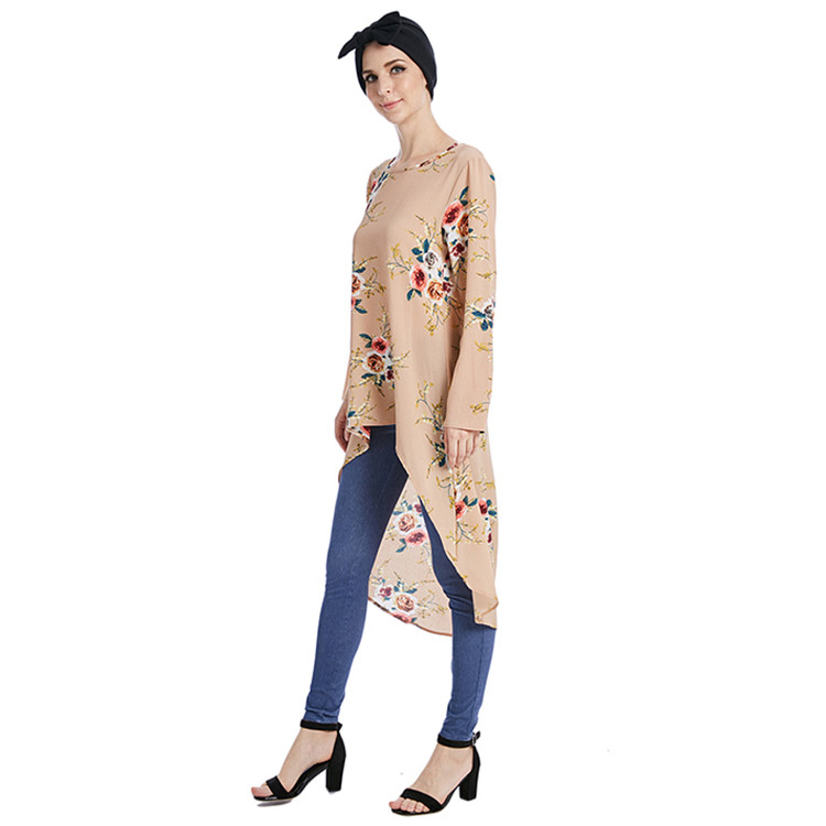 2018 New designs fashion  muslim blouse for women
