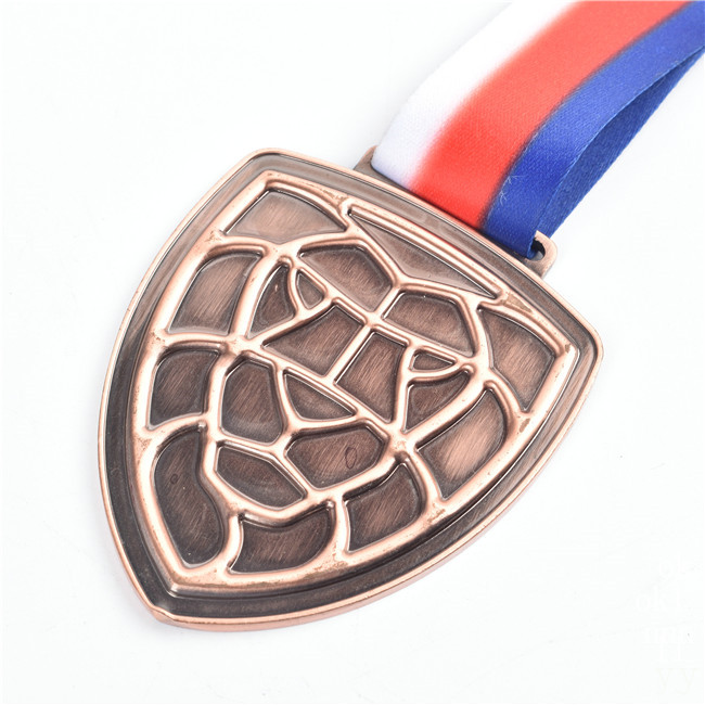 <strong>Custom</strong> running race medal antique pewter/copper medal wholesale